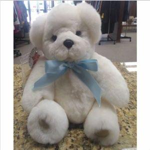 Precious White Ranch Raised Rex Rabbit Teddy Bear